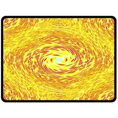 Yellow Seamless Psychedelic Pattern Double Sided Fleece Blanket (large)