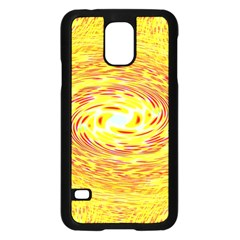 Yellow Seamless Psychedelic Pattern Samsung Galaxy S5 Case (black)