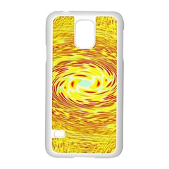 Yellow Seamless Psychedelic Pattern Samsung Galaxy S5 Case (white)