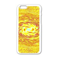 Yellow Seamless Psychedelic Pattern Apple Iphone 6/6s White Enamel Case