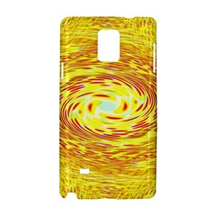 Yellow Seamless Psychedelic Pattern Samsung Galaxy Note 4 Hardshell Case
