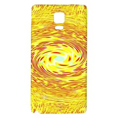 Yellow Seamless Psychedelic Pattern Galaxy Note 4 Back Case