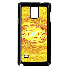 Yellow Seamless Psychedelic Pattern Samsung Galaxy Note 4 Case (black)
