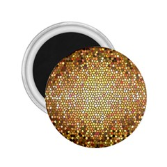 Yellow And Black Stained Glass Effect 2 25  Magnets