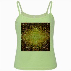 Yellow And Black Stained Glass Effect Green Spaghetti Tank