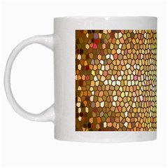 Yellow And Black Stained Glass Effect White Mugs