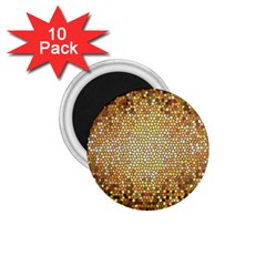 Yellow And Black Stained Glass Effect 1 75  Magnets (10 Pack)