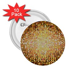 Yellow And Black Stained Glass Effect 2 25  Buttons (10 Pack)