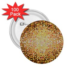 Yellow And Black Stained Glass Effect 2 25  Buttons (100 Pack)