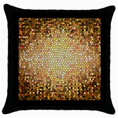 Yellow And Black Stained Glass Effect Throw Pillow Case (black)