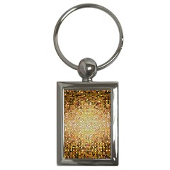 Yellow And Black Stained Glass Effect Key Chains (rectangle)