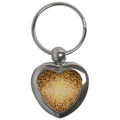 Yellow And Black Stained Glass Effect Key Chains (heart)