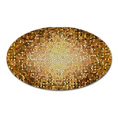 Yellow And Black Stained Glass Effect Oval Magnet