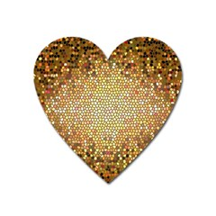 Yellow And Black Stained Glass Effect Heart Magnet