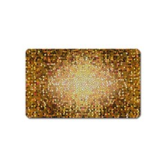 Yellow And Black Stained Glass Effect Magnet (name Card)