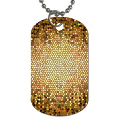 Yellow And Black Stained Glass Effect Dog Tag (one Side)