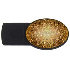 Yellow And Black Stained Glass Effect Usb Flash Drive Oval (2 Gb)