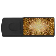 Yellow And Black Stained Glass Effect USB Flash Drive Rectangular (2 GB)
