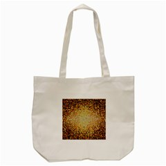 Yellow And Black Stained Glass Effect Tote Bag (cream)
