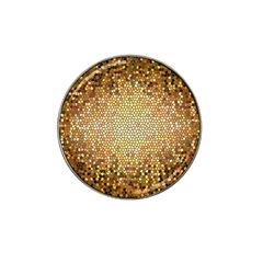 Yellow And Black Stained Glass Effect Hat Clip Ball Marker (10 Pack)