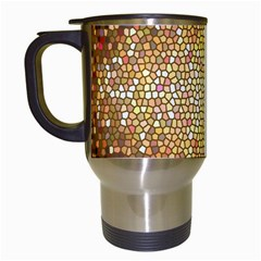 Yellow And Black Stained Glass Effect Travel Mugs (white)