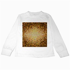 Yellow And Black Stained Glass Effect Kids Long Sleeve T Shirts