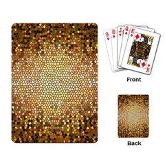 Yellow And Black Stained Glass Effect Playing Card