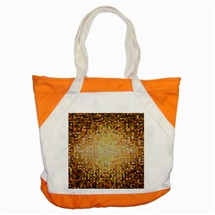Yellow And Black Stained Glass Effect Accent Tote Bag