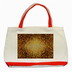 Yellow And Black Stained Glass Effect Classic Tote Bag (red)