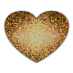 Yellow And Black Stained Glass Effect Heart Mousepads