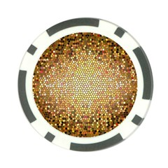 Yellow And Black Stained Glass Effect Poker Chip Card Guard