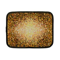 Yellow And Black Stained Glass Effect Netbook Case (small)