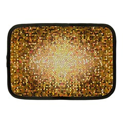 Yellow And Black Stained Glass Effect Netbook Case (medium)