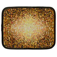 Yellow And Black Stained Glass Effect Netbook Case (Large)