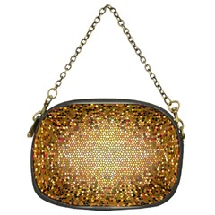 Yellow And Black Stained Glass Effect Chain Purses (one Side)