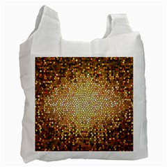 Yellow And Black Stained Glass Effect Recycle Bag (two Side)