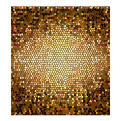 Yellow And Black Stained Glass Effect Shower Curtain 66  X 72  (large)