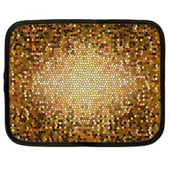 Yellow And Black Stained Glass Effect Netbook Case (XL)