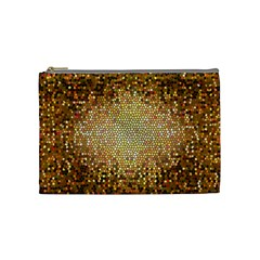 Yellow And Black Stained Glass Effect Cosmetic Bag (medium)