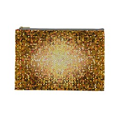 Yellow And Black Stained Glass Effect Cosmetic Bag (large)