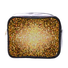 Yellow And Black Stained Glass Effect Mini Toiletries Bags