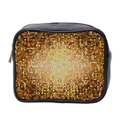 Yellow And Black Stained Glass Effect Mini Toiletries Bag 2 Side