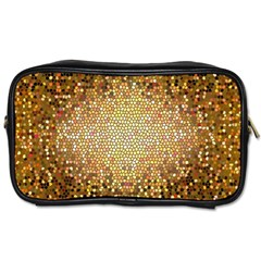 Yellow And Black Stained Glass Effect Toiletries Bags 2 Side