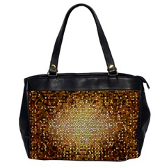 Yellow And Black Stained Glass Effect Office Handbags