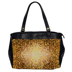 Yellow And Black Stained Glass Effect Office Handbags (2 Sides)