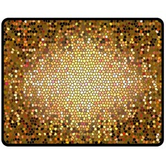 Yellow And Black Stained Glass Effect Fleece Blanket (Medium)