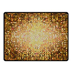 Yellow And Black Stained Glass Effect Fleece Blanket (small)
