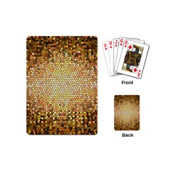 Yellow And Black Stained Glass Effect Playing Cards (mini)