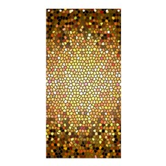 Yellow And Black Stained Glass Effect Shower Curtain 36  X 72  (stall)