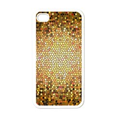 Yellow And Black Stained Glass Effect Apple Iphone 4 Case (white)